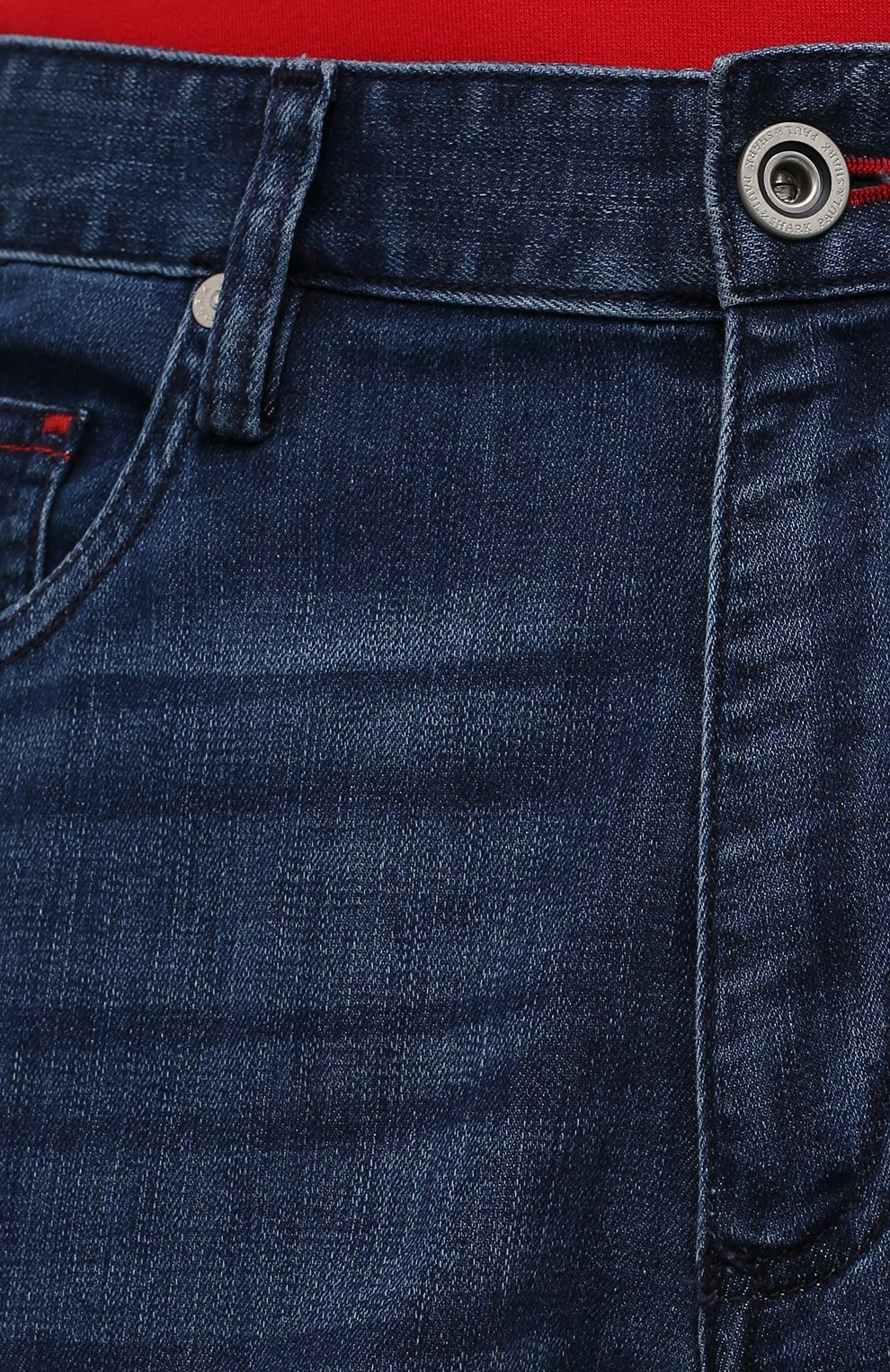 Мужские джинсы PAUL&SHARK синего цвета, арт. 21414196R/DUI | Фото 5