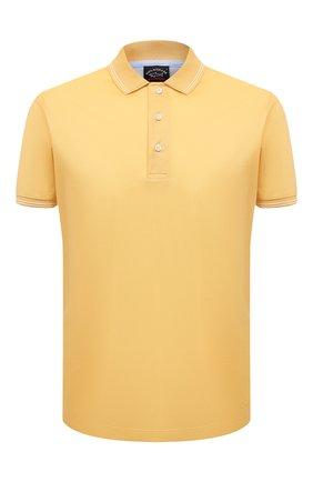 Мужское хлопковое поло PAUL&SHARK желтого цвета, арт. 21411331/FEN | Фото 1