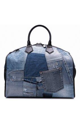 Мужская текстильная дорожная сумка edge DOLCE & GABBANA синего цвета, арт. BM1789/AW347 | Фото 1