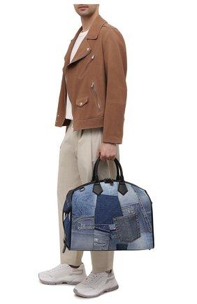 Мужская текстильная дорожная сумка edge DOLCE & GABBANA синего цвета, арт. BM1789/AW347 | Фото 2