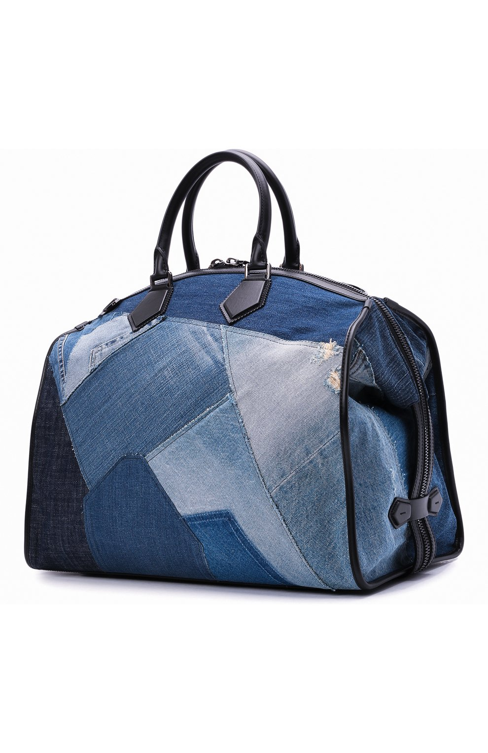Мужская текстильная дорожная сумка edge DOLCE & GABBANA синего цвета, арт. BM1789/AW347 | Фото 3