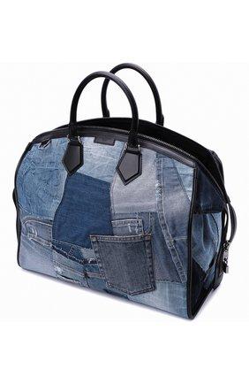 Мужская текстильная дорожная сумка edge DOLCE & GABBANA синего цвета, арт. BM1789/AW347 | Фото 4