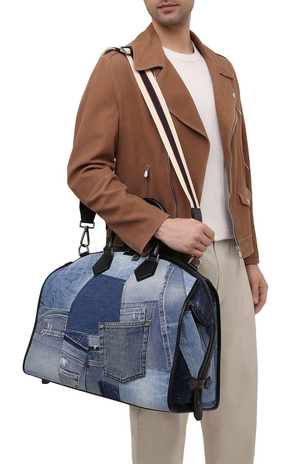 Мужская текстильная дорожная сумка edge DOLCE & GABBANA синего цвета, арт. BM1789/AW347 | Фото 5
