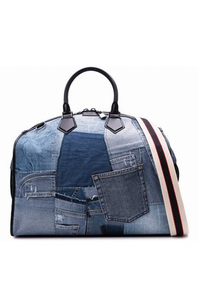Мужская текстильная дорожная сумка edge DOLCE & GABBANA синего цвета, арт. BM1789/AW347 | Фото 6