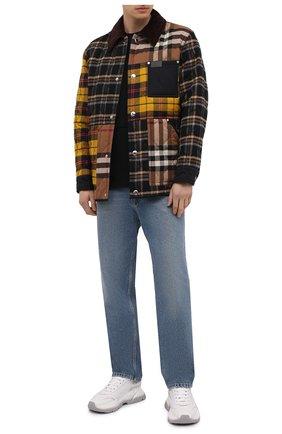 Мужская утепленная куртка BURBERRY разноцветного цвета, арт. 8038569 | Фото 2