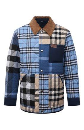 Мужская утепленная куртка BURBERRY разноцветного цвета, арт. 8038568 | Фото 1