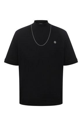 Мужская хлопковая футболка AMBUSH черного цвета, арт. BMAA010S21JER001 | Фото 1