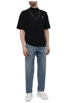 Мужская хлопковая футболка AMBUSH черного цвета, арт. BMAA010S21JER001 | Фото 2