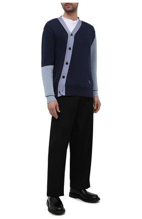 Мужской хлопковый кардиган AMBUSH темно-синего цвета, арт. BMHB003S21KNI001 | Фото 2