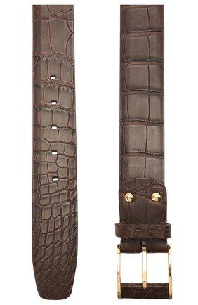 Ремень из кожи аллигатора со сменными пряжками | Фото №2