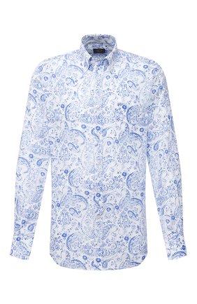 Мужская льняная рубашка PAUL&SHARK голубого цвета, арт. 21413426/F7E | Фото 1