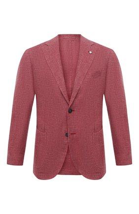 Пиджак из шерсти и льна | Фото №1