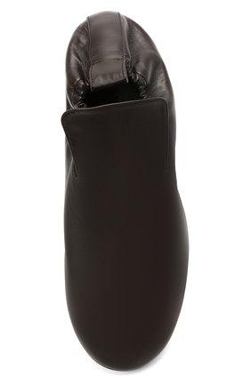 Мужские кожаные слиперы lattice BOTTEGA VENETA темно-коричневого цвета, арт. 658771/VBSD0 | Фото 5 (Материал внутренний: Натуральная кожа; Стили: Кэжуэл)