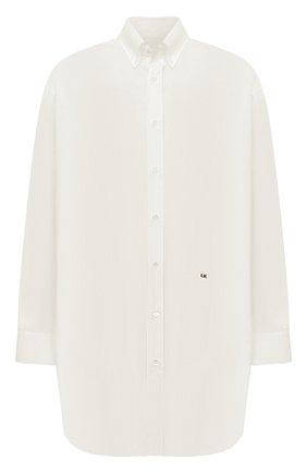 Мужская хлопковая рубашка MAISON MARGIELA белого цвета, арт. S30DL0489/S39545 | Фото 1