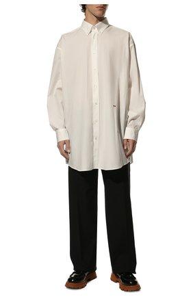 Мужская хлопковая рубашка MAISON MARGIELA белого цвета, арт. S30DL0489/S39545 | Фото 2