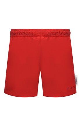 Мужские плавки-шорты OFF-WHITE красного цвета, арт. 0MFA003S21FAB001   Фото 1