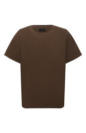 Мужская хлопковая футболка FEAR OF GOD коричневого цвета, арт. FG50-027TER | Фото 1