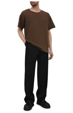 Мужская хлопковая футболка FEAR OF GOD коричневого цвета, арт. FG50-027TER | Фото 2