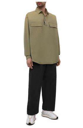 Мужская хлопковая рубашка FEAR OF GOD хаки цвета, арт. FG50-011DUK | Фото 2