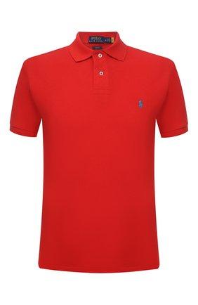 Мужское хлопковое поло POLO RALPH LAUREN красного цвета, арт. 710795080 | Фото 1