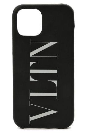 Чехол для iphone 12 pro max VALENTINO черно-белого цвета, арт. WY2P0T10/LVN | Фото 1
