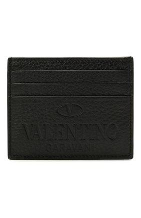 Мужской кожаный футляр для кредитных карт valentino garavani VALENTINO черного цвета, арт. WY2P0S49/VXY | Фото 1