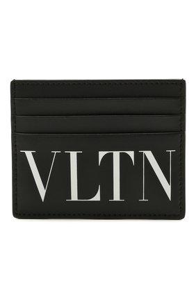 Мужской кожаный футляр для кредитных карт valentino garavani VALENTINO черно-белого цвета, арт. WY2P0S49/LVN | Фото 1