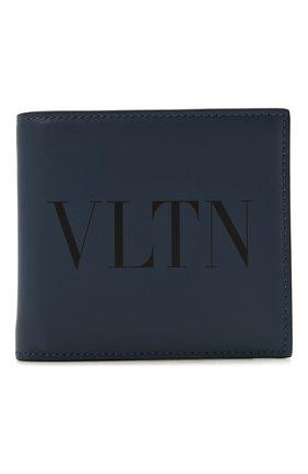 Мужской кожаное портмоне valentino garavani VALENTINO темно-синего цвета, арт. WY2P0654/LVN | Фото 1