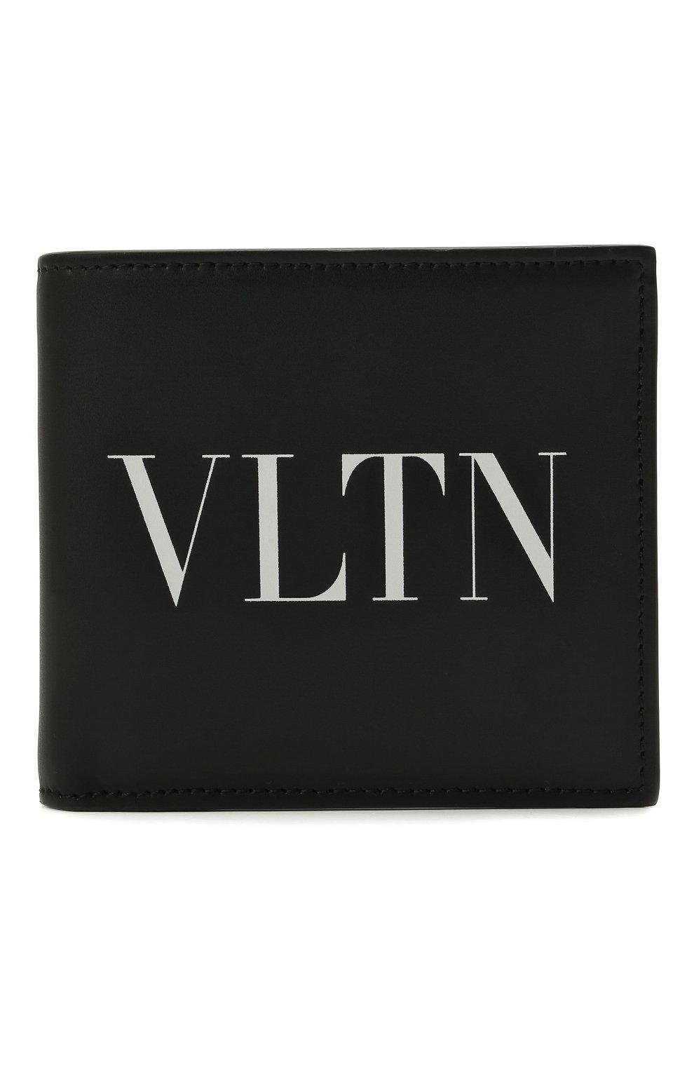 Мужской кожаное портмоне VALENTINO черного цвета, арт. WY2P0654/LVN | Фото 1