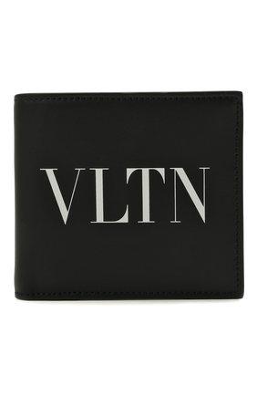 Мужской кожаное портмоне valentino garavani VALENTINO черно-белого цвета, арт. WY2P0654/LVN | Фото 1