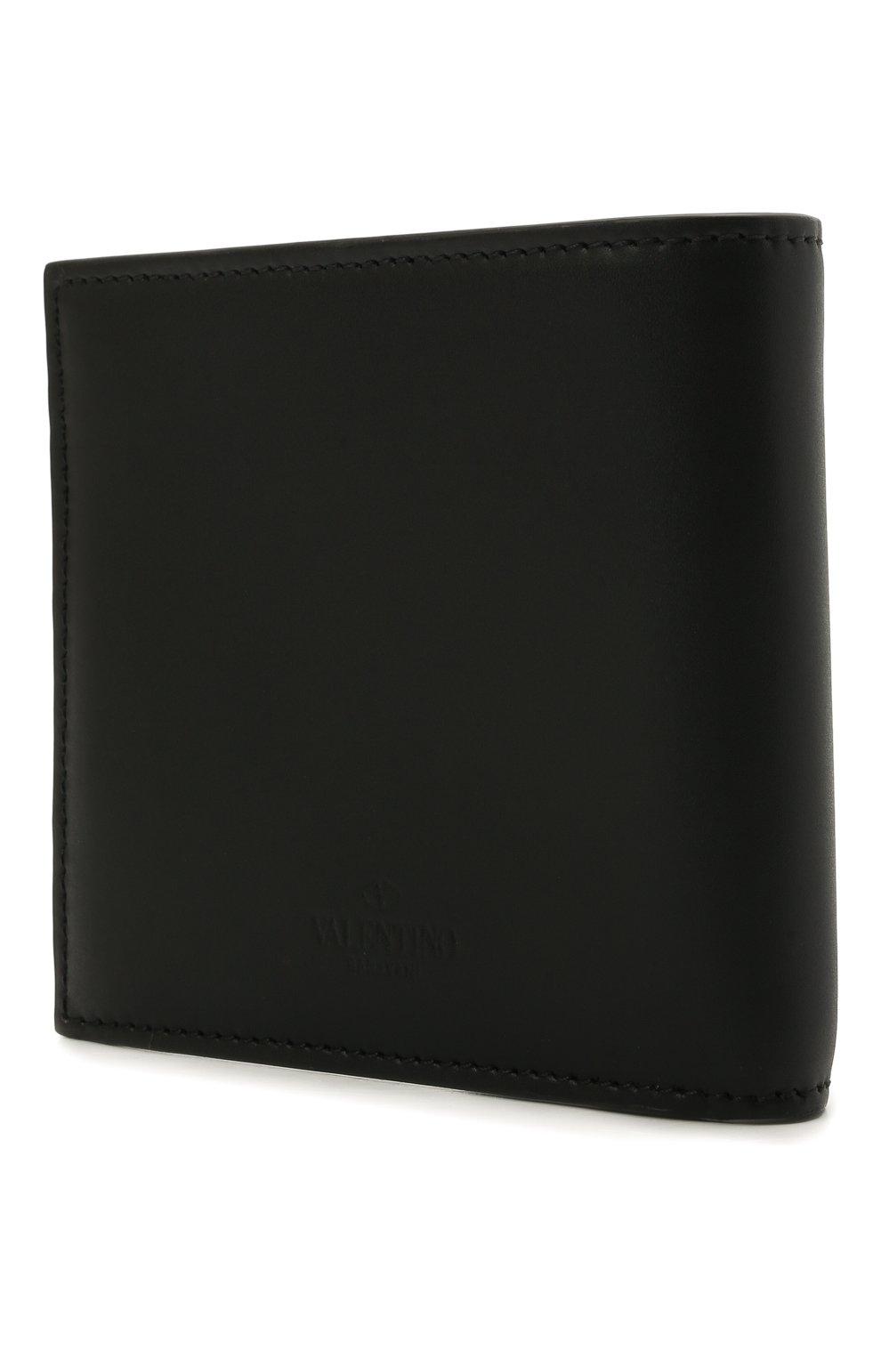 Мужской кожаное портмоне VALENTINO черного цвета, арт. WY2P0654/LVN | Фото 2