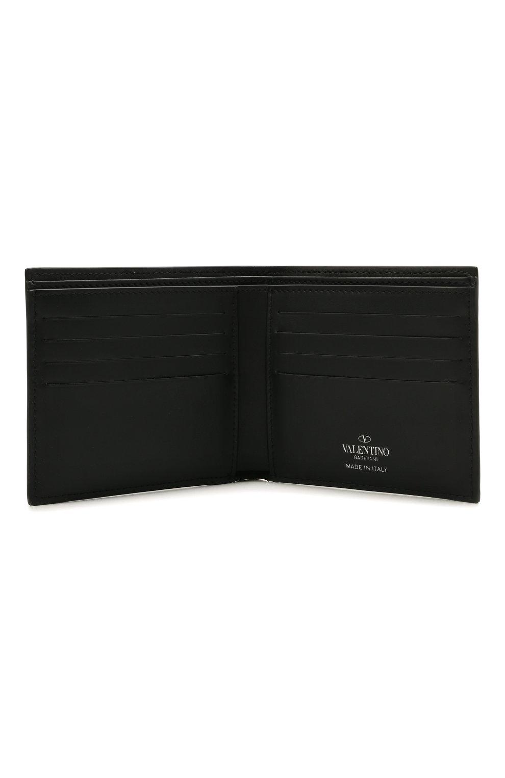 Мужской кожаное портмоне VALENTINO черного цвета, арт. WY2P0654/LVN | Фото 3