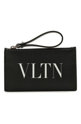 Мужской кожаный кошелек для монет valentino garavani VALENTINO черно-белого цвета, арт. WY2P0540/LVN | Фото 1