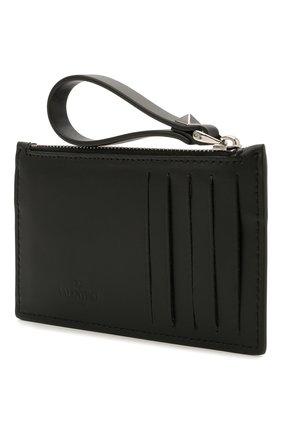 Мужской кожаный кошелек для монет valentino garavani VALENTINO черно-белого цвета, арт. WY2P0540/LVN | Фото 2