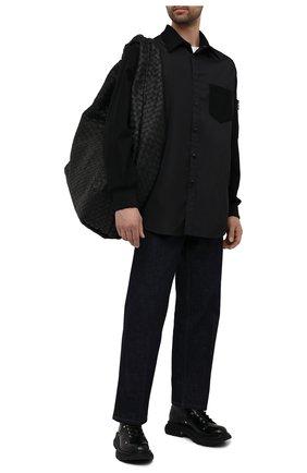 Мужская рубашка VALENTINO черного цвета, арт. WV3CIK257MC | Фото 2 (Материал внешний: Синтетический материал; Рукава: Длинные; Случай: Повседневный; Длина (для топов): Стандартные; Воротник: Кент; Манжеты: Без застежки; Принт: Без принта, Однотонные; Стили: Кэжуэл)