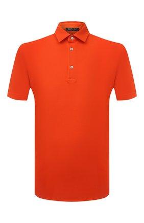 Мужское хлопковое поло LORO PIANA оранжевого цвета, арт. FAI1315 | Фото 1 (Материал внешний: Хлопок; Длина (для топов): Стандартные; Рукава: Короткие; Стили: Кэжуэл; Застежка: Пуговицы)