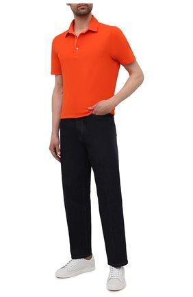 Мужское хлопковое поло LORO PIANA оранжевого цвета, арт. FAI1315 | Фото 2 (Материал внешний: Хлопок; Длина (для топов): Стандартные; Рукава: Короткие; Стили: Кэжуэл; Застежка: Пуговицы)