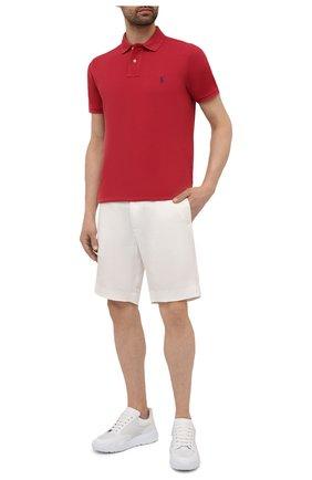 Мужское хлопковое поло POLO RALPH LAUREN красного цвета, арт. 710680784 | Фото 2