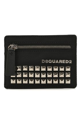 Мужской текстильный футляр для кредитных карт DSQUARED2 черного цвета, арт. CCM0006 11701317 | Фото 1