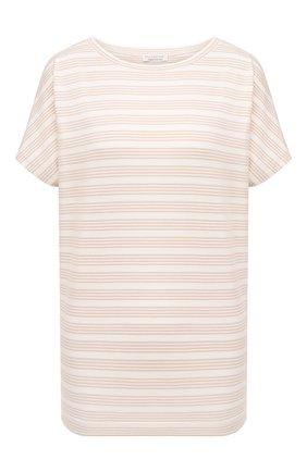 Женская хлопковая футболка EVA B.BITZER светло-бежевого цвета, арт. 11300333   Фото 1