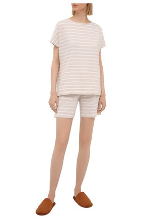 Женская хлопковая футболка EVA B.BITZER светло-бежевого цвета, арт. 11300333   Фото 2