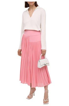 Женская плиссированная юбка BOSS розового цвета, арт. 50453503 | Фото 2