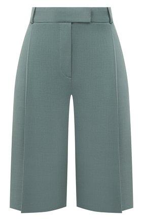 Женские шерстяные шорты BOSS бирюзового цвета, арт. 50453518 | Фото 1