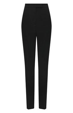 Женские шерстяные брюки BOSS черного цвета, арт. 50453523 | Фото 1