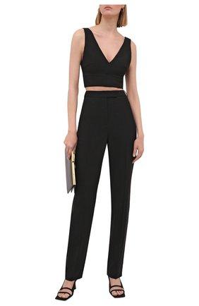 Женские шерстяные брюки BOSS черного цвета, арт. 50453523 | Фото 2