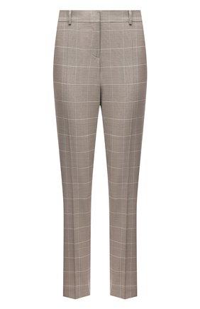 Женские шерстяные брюки BOSS бежевого цвета, арт. 50454292 | Фото 1