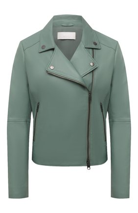 Женская кожаная куртка BOSS зеленого цвета, арт. 50447154 | Фото 1