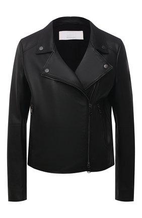 Женская кожаная куртка BOSS черного цвета, арт. 50447154 | Фото 1