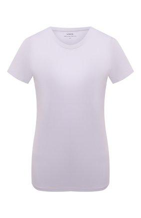 Женская хлопковая футболка VINCE сиреневого цвета, арт. V724783107   Фото 1