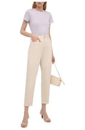 Женская хлопковая футболка VINCE сиреневого цвета, арт. V724783107   Фото 2